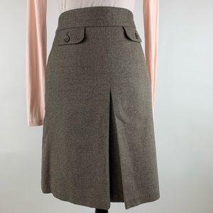 J.CREW Brown Tweed A-Line Skirt Size 4 Knee Length